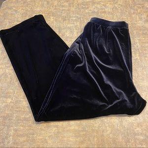 NWOT Koret Petites Black Velvet Pants